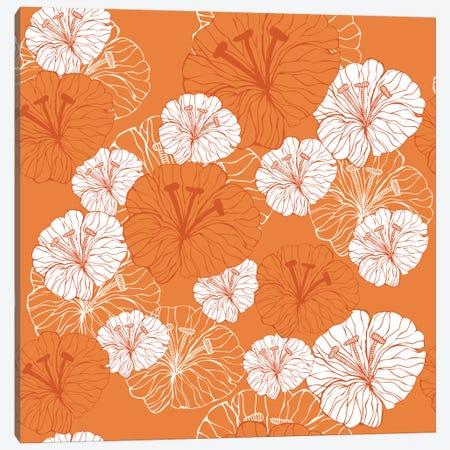 Tangerine Florals Canvas Print #VAL372} by Valentina Harper Canvas Art Print