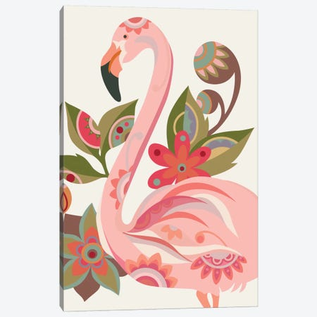 The Flamingo Canvas Print #VAL382} by Valentina Harper Canvas Wall Art