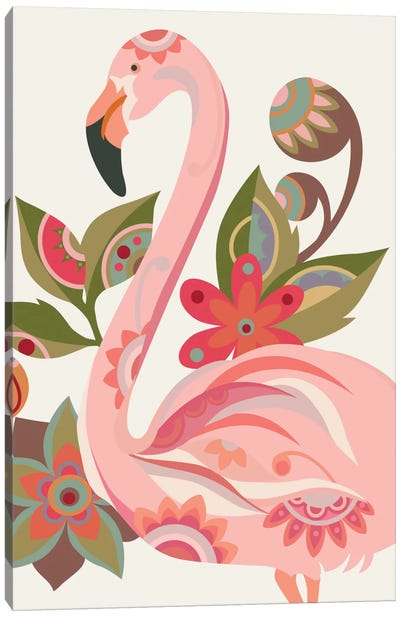 The Flamingo Canvas Art Print