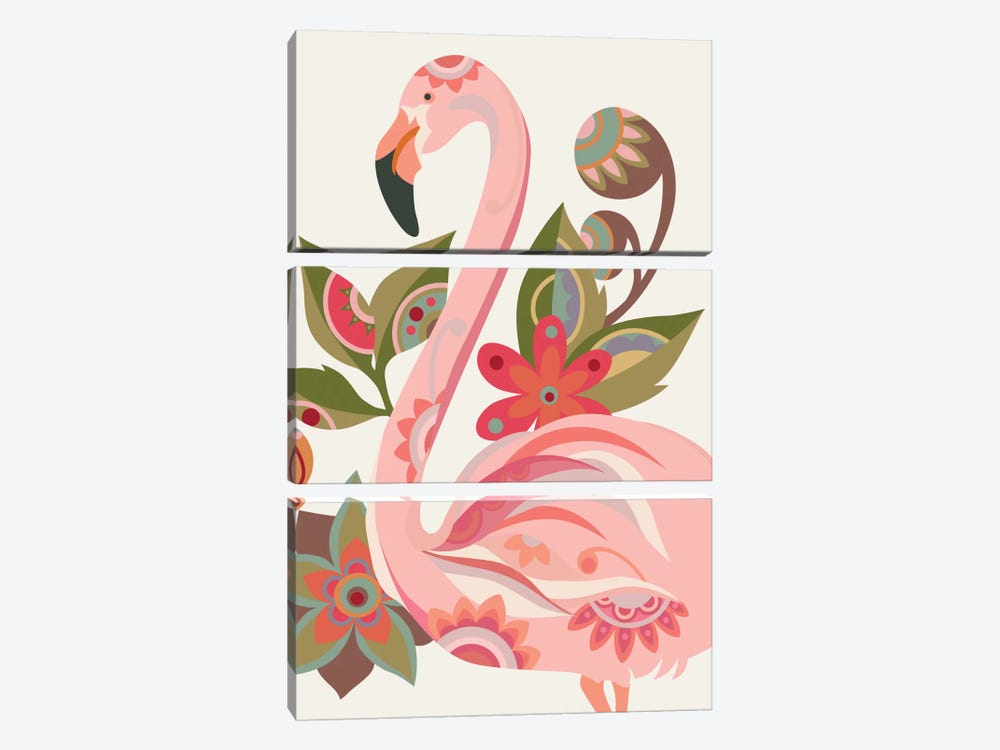 The Flamingo by Valentina Harper 3-piece Canvas Print