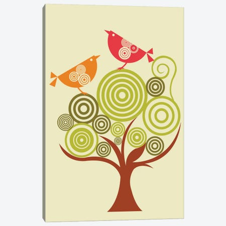 The Funky Tree Canvas Print #VAL385} by Valentina Harper Art Print