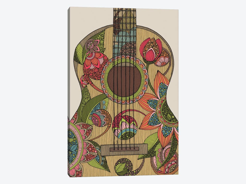 The Guitar by Valentina Harper 1-piece Canvas Art Print