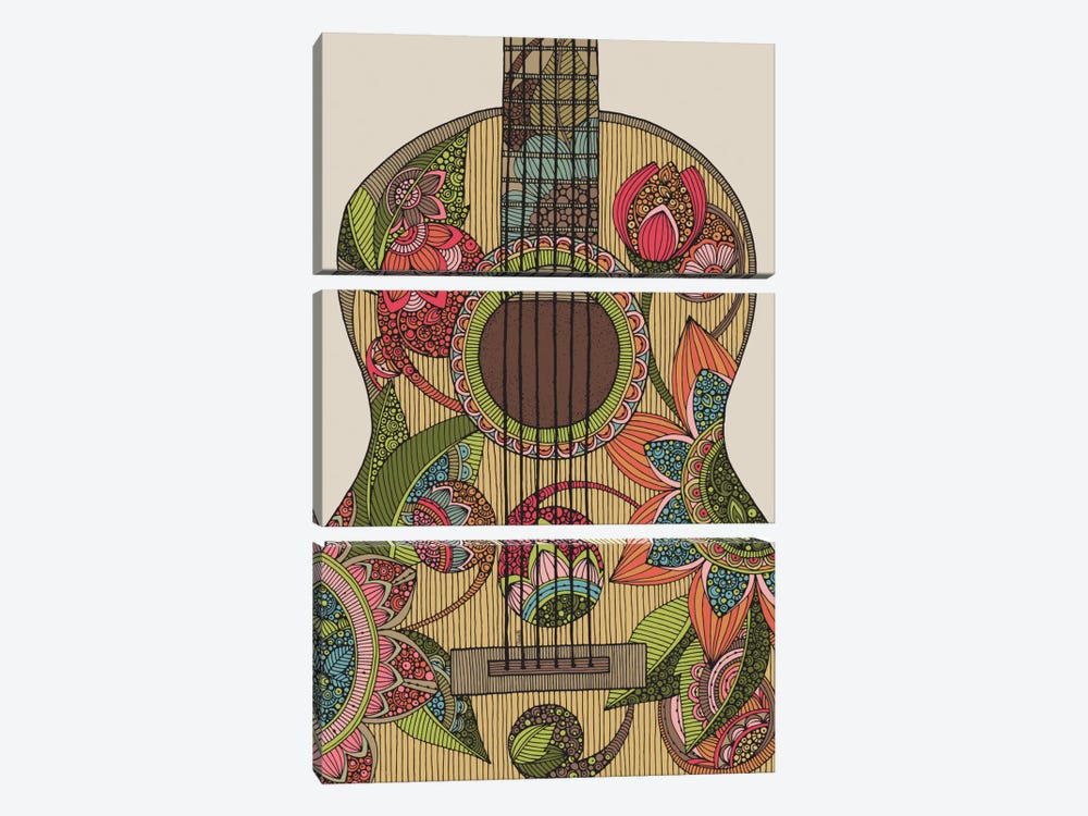 The Guitar by Valentina Harper 3-piece Canvas Print