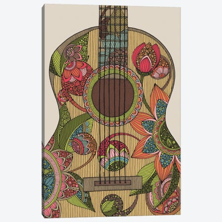 The Guitar Canvas Print #VAL386} by Valentina Harper Canvas Print