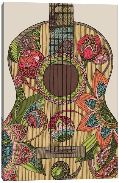The Guitar Canvas Art Print