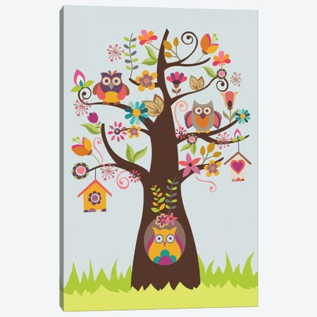 The Happy Happy Tree Canvas Print #VAL387} by Valentina Harper Canvas Print