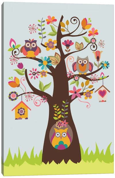 The Happy Happy Tree Canvas Print #VAL387