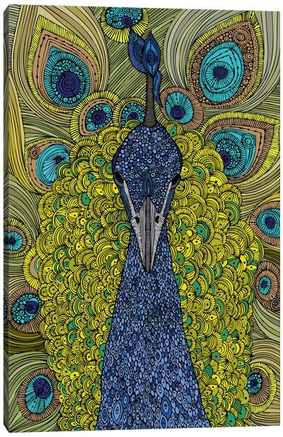 The Peacock Canvas Art Print