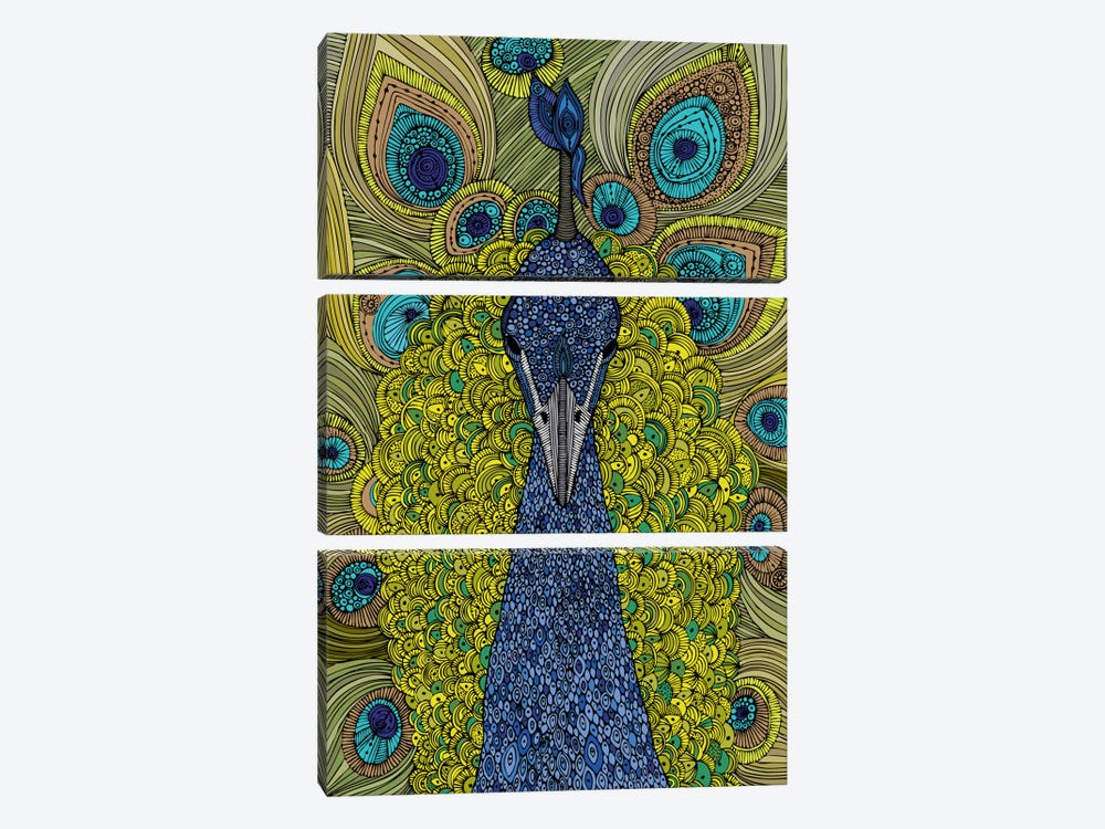 The Peacock by Valentina Harper 3-piece Canvas Artwork