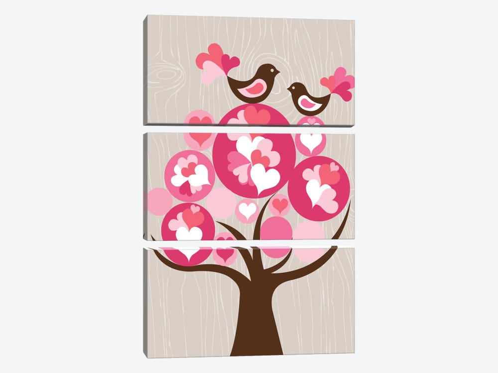 Treetop Love by Valentina Harper 3-piece Canvas Art Print