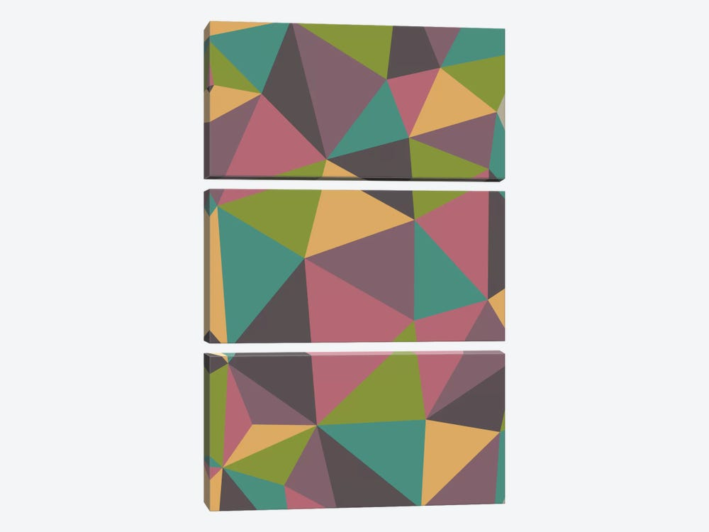 Triangles by Valentina Harper 3-piece Canvas Wall Art