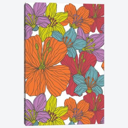 Tropical Flowers Canvas Print #VAL401} by Valentina Harper Canvas Art Print
