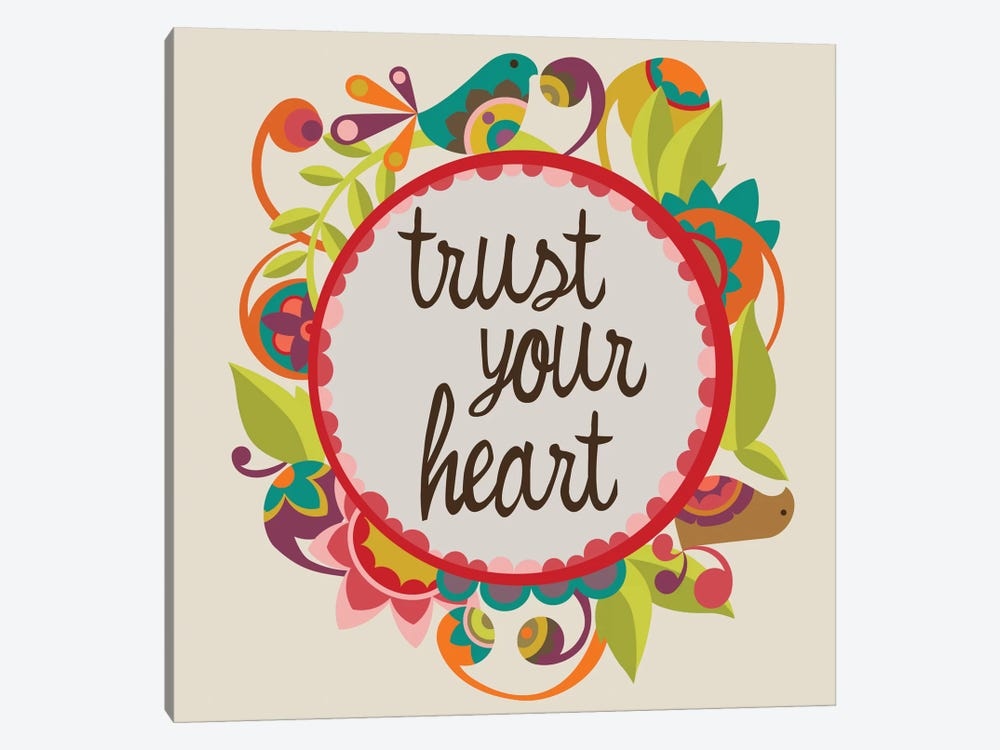 Trust Your Heart by Valentina Harper 1-piece Canvas Wall Art
