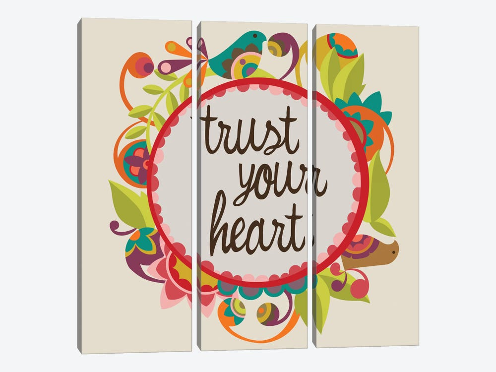 Trust Your Heart by Valentina Harper 3-piece Canvas Artwork