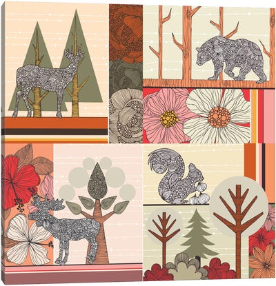Woodland Canvas Art Print