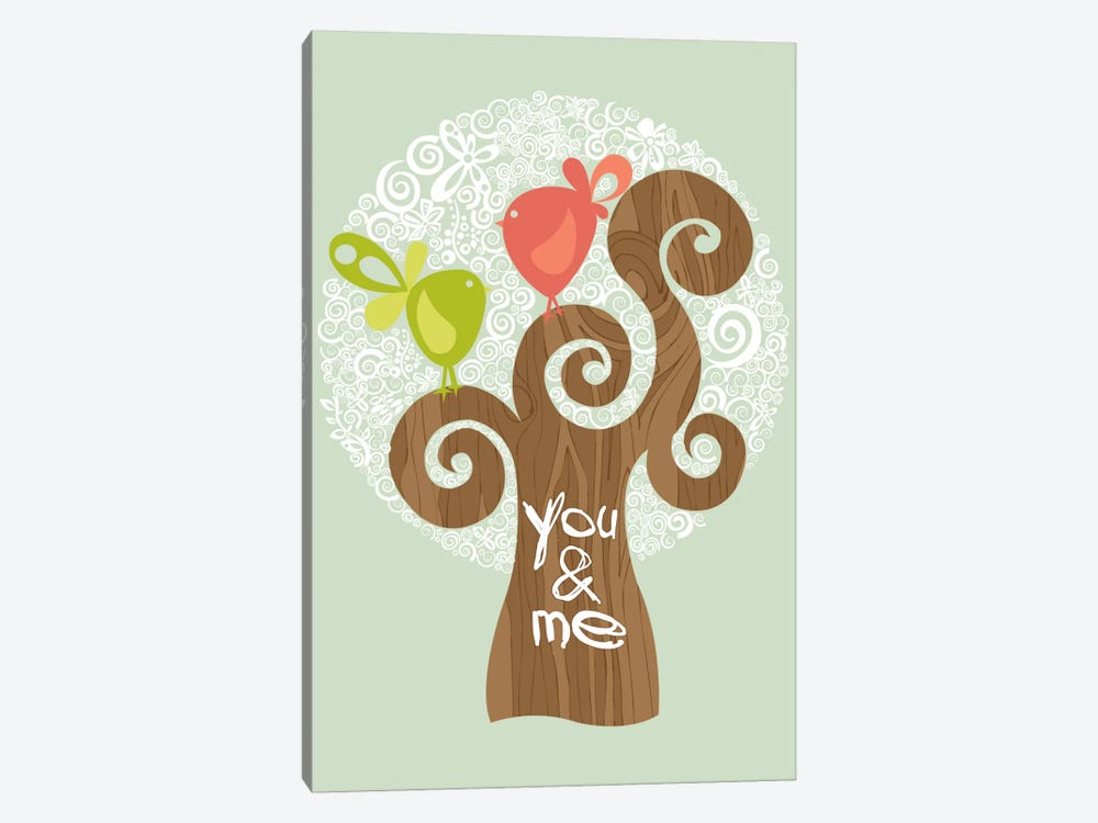 You And Me I by Valentina Harper 1-piece Canvas Art Print
