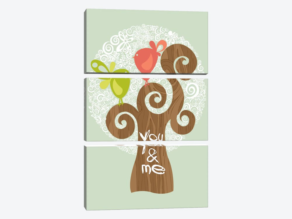 You And Me I by Valentina Harper 3-piece Art Print