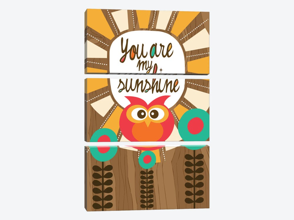 You Are My Sunshine III by Valentina Harper 3-piece Canvas Print