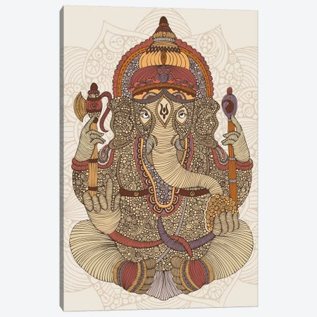 Ganesha Canvas Print #VAL439} by Valentina Harper Canvas Wall Art
