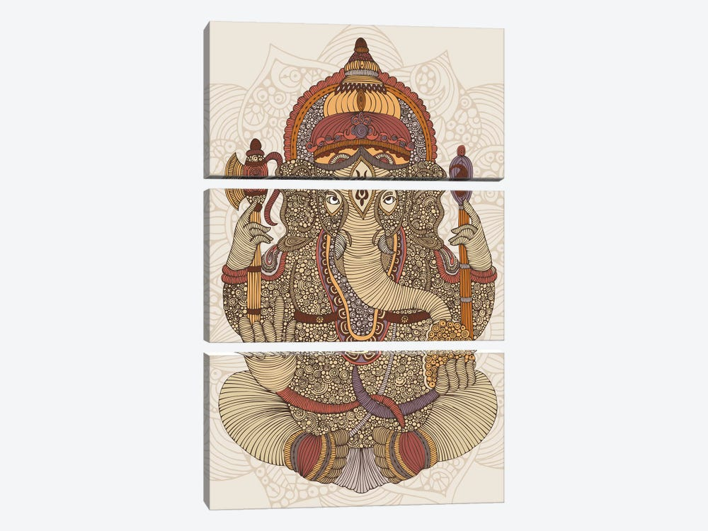 Ganesha by Valentina Harper 3-piece Canvas Artwork