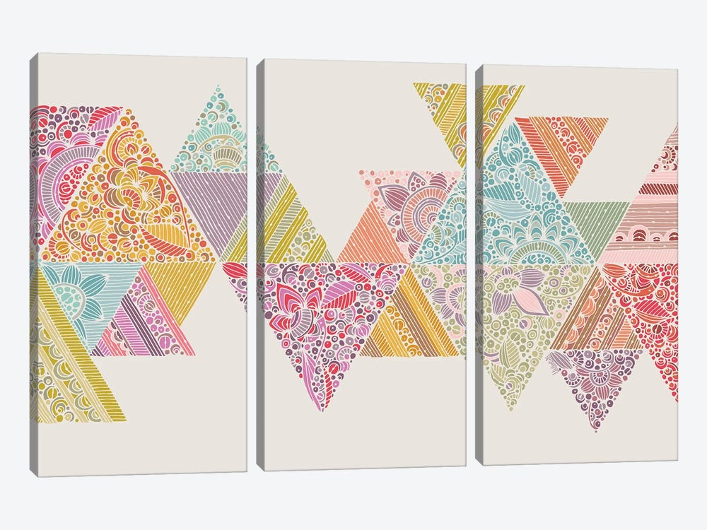 Geo Road by Valentina Harper 3-piece Canvas Artwork