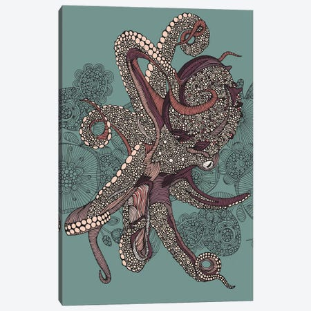 Octopus Canvas Print #VAL446} by Valentina Harper Canvas Wall Art