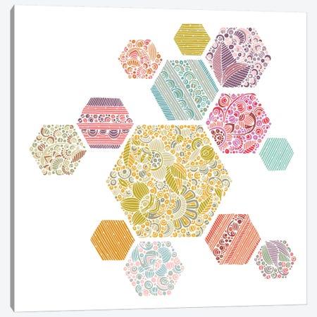 Summer Honeycomb Canvas Print #VAL453} by Valentina Harper Canvas Artwork