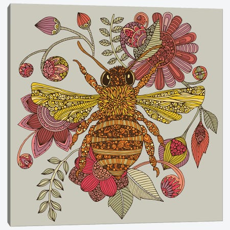 The Bee Canvas Print #VAL455} by Valentina Harper Art Print