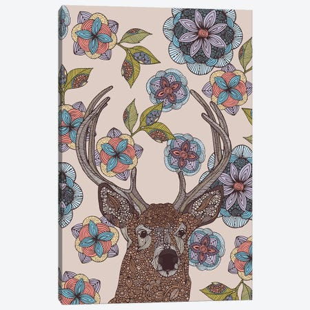 The Deer Canvas Print #VAL457} by Valentina Harper Art Print