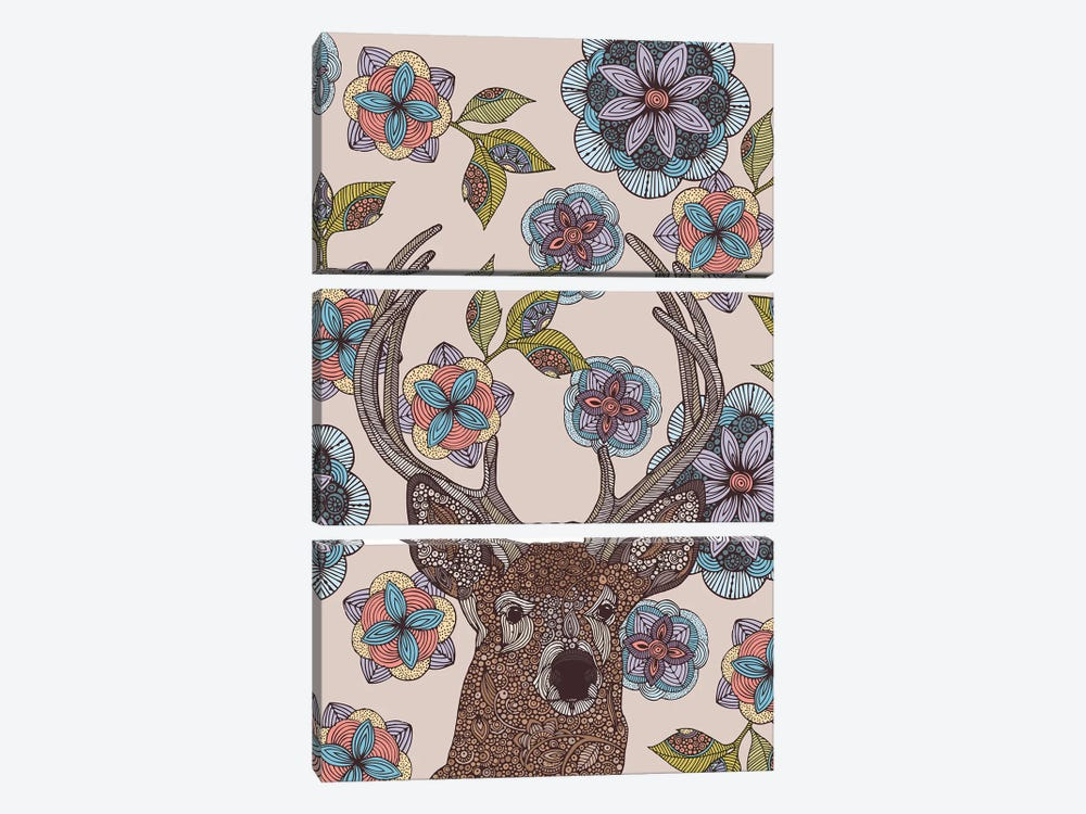 The Deer by Valentina Harper 3-piece Canvas Wall Art