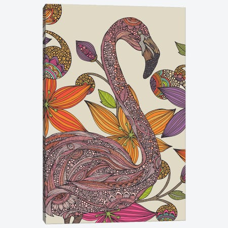 The Flamingo II Canvas Print #VAL458} by Valentina Harper Canvas Art