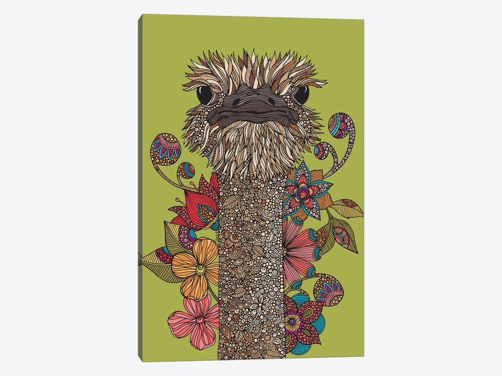 The Ostrich 1-piece Canvas Artwork