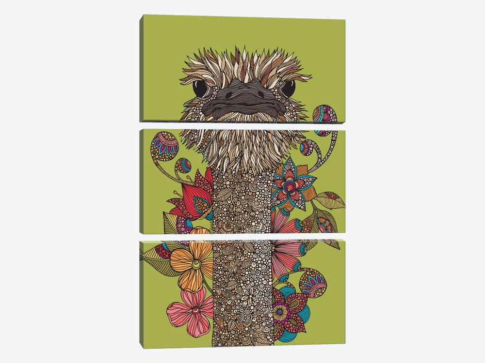 The Ostrich by Valentina Harper 3-piece Canvas Artwork