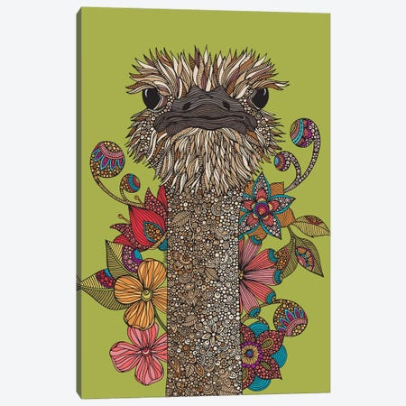The Ostrich Canvas Print #VAL460} by Valentina Harper Canvas Art Print