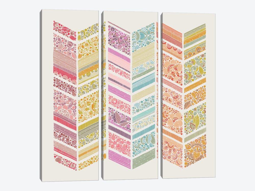 Zig Zag Summer by Valentina Harper 3-piece Canvas Art