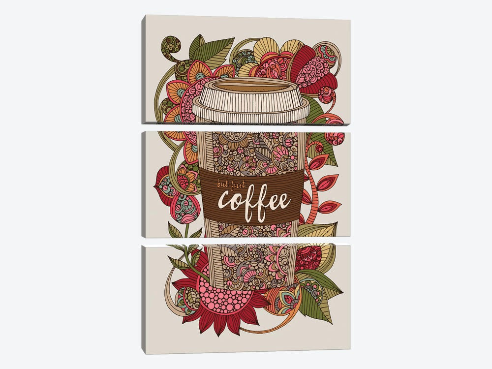But First Coffee by Valentina Harper 3-piece Canvas Art Print