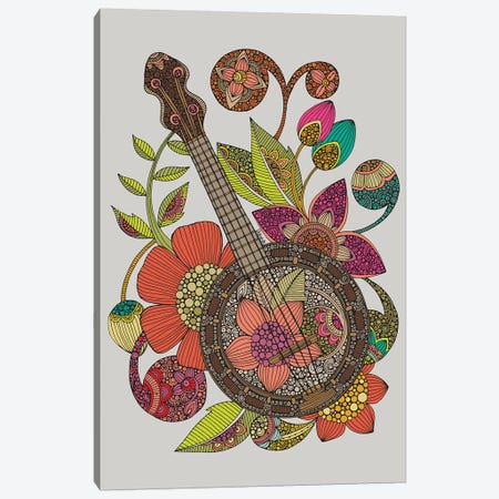 Ever Banjo Canvas Print #VAL464} by Valentina Harper Canvas Artwork