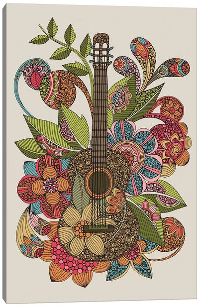 Ever Guitar Canvas Art Print