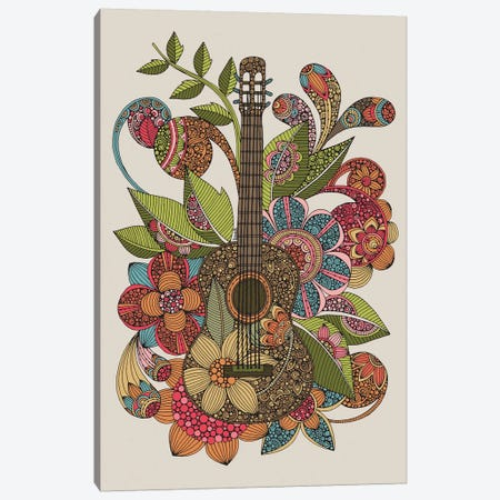 Ever Guitar Canvas Print #VAL465} by Valentina Harper Canvas Artwork
