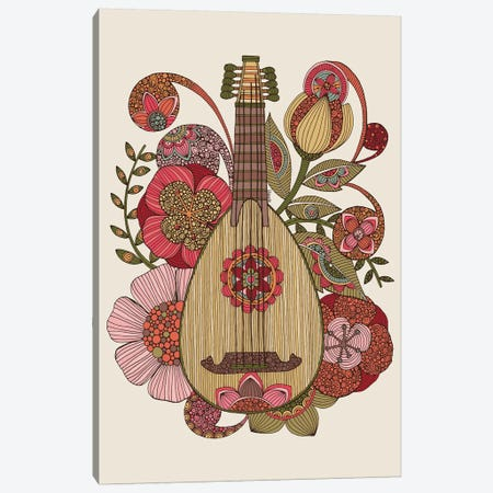 Ever Mandolin Canvas Print #VAL466} by Valentina Harper Canvas Wall Art