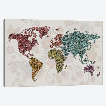 Paisley World Canvas Print #VAL468} by Valentina Harper Canvas Art Print