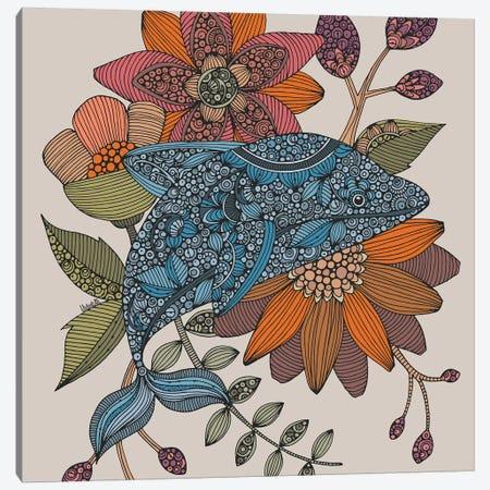 Blue Dolphin Canvas Print #VAL477} by Valentina Harper Canvas Print