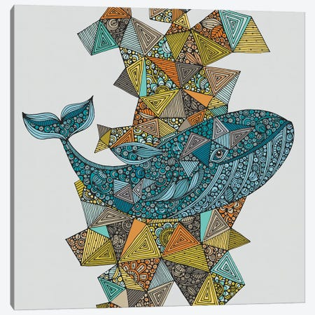 Blue Whale 3-Piece Canvas #VAL479} by Valentina Harper Canvas Art