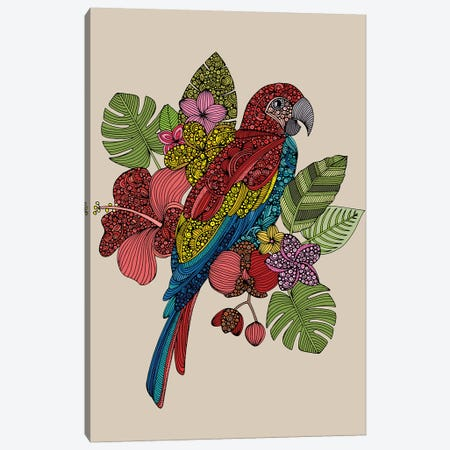 Parrot Canvas Print #VAL491} by Valentina Harper Canvas Wall Art