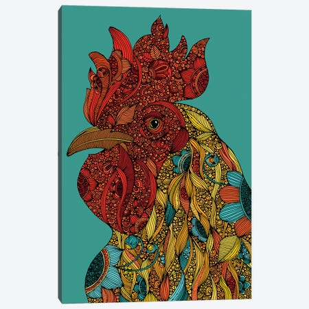 Rooster Canvas Print #VAL493} by Valentina Harper Canvas Artwork