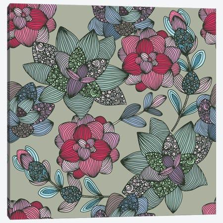 Suculents Flowers Pattern Canvas Print #VAL494} by Valentina Harper Art Print