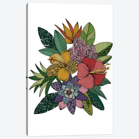 Tropical Flowers Canvas Print #VAL495} by Valentina Harper Canvas Print