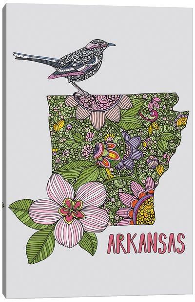 Arkansas - State Bird And Flower Canvas Art Print