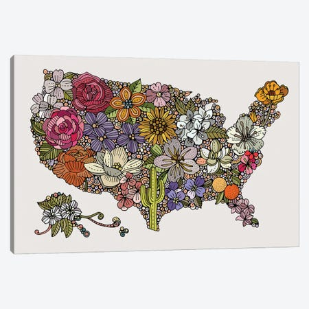 Land Of The Free - Flowers Canvas Print #VAL526} by Valentina Harper Art Print