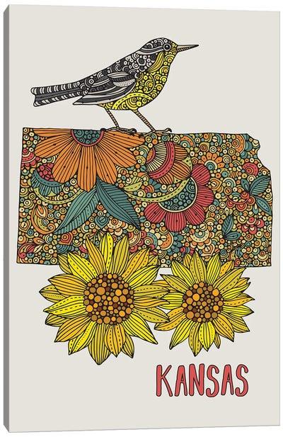 Kansas - State Bird And Flower Canvas Art Print
